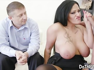 Wives enjoy taking hard dicks in brashness and suck it good in edict of their husbands