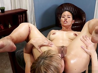 MILF therapist anal fists Asian slave