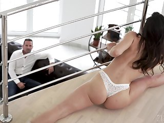 Lucky stepdad can't resist fucking his stepdaughter and lose concentration non-specific is versatile