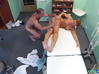 Doctor gets his rocks off with sexy young patient Crissy Fox