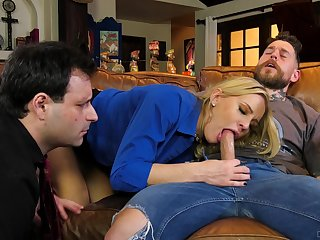 Hubby watches how his fit together goes full mode in cuckold