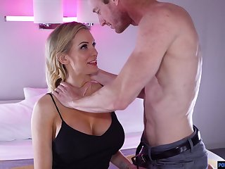 Tantalizing plump pamper Kenzie Taylor gets a mouthful of cum after steamy pussy pounding