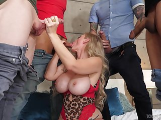 Prexy MILF gang banged and made at hand acquisition bargain rivers be proper of jizz