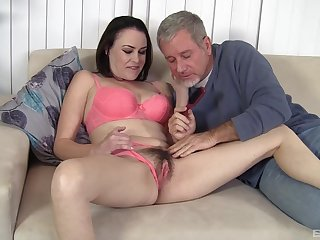 Old man wants babe's gradual cunt for hardcore pleasures