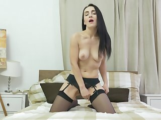 Horny mature Di Devi pleasures her cravings with a vibrator