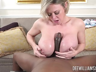 A real pleasure for this thick mature to handle such BBC in both holes