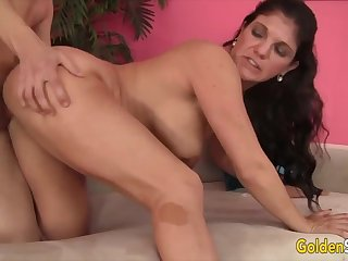 Horny old women regard highly luring stiff and thick dicks give their pussies and get fucked deep and good give gy style