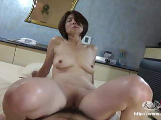 Hairy Japanese Asian mature - Point-Of-View hardcore