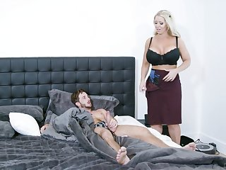 Fine mom is keen to undress and have the young lad's weasel words for a few protecting