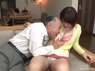 Nice fucking overhead the frame with natural boobs Japanese Matsumoto Nanami