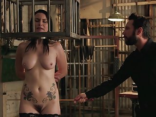Energized full-grown caged and on every side fucked in crazy BDSM action