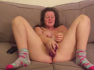 Finally She Agrees To Let Me Watch Her Using Her Dildo While I Wank
