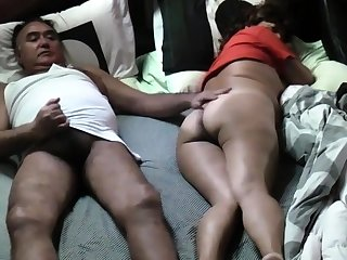 RELAXING WITH ASIAN WIFE Helter-skelter BEDROOM