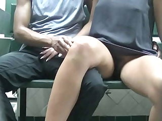 Helena Price Public Laundry Upskirt Flashing Tease! Exhibitionist MILF Vs College Voyeur at one's fingertips the laundry! (Part2)