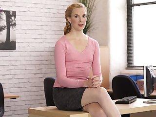 Erotic fantasies of sex-hungry accountant in stockings Ariel Anderssen