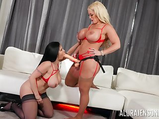 Ginger beer Alura Jenson decides to take a crack at fun with an increment of lesbian sex with Sheridan Love