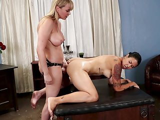 Milfs fuck together here toys in rough scenes of lezzie XXX