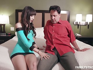 Comely step niece Judy Jolie turned to be insatiable nympho