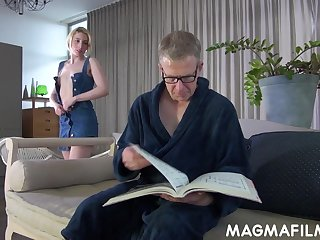 Elvira shows her stepdad the things and these two end with respect to fucking