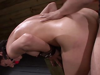 Submissive bitch endures rough sexual treatment on cam