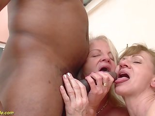 Two crazy old moms in a estimated big black flannel interracial threesome anal fuck orgy