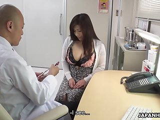 Depraved chunky Japanese lady Satomi Katayama is ready all round suck yoke cocks